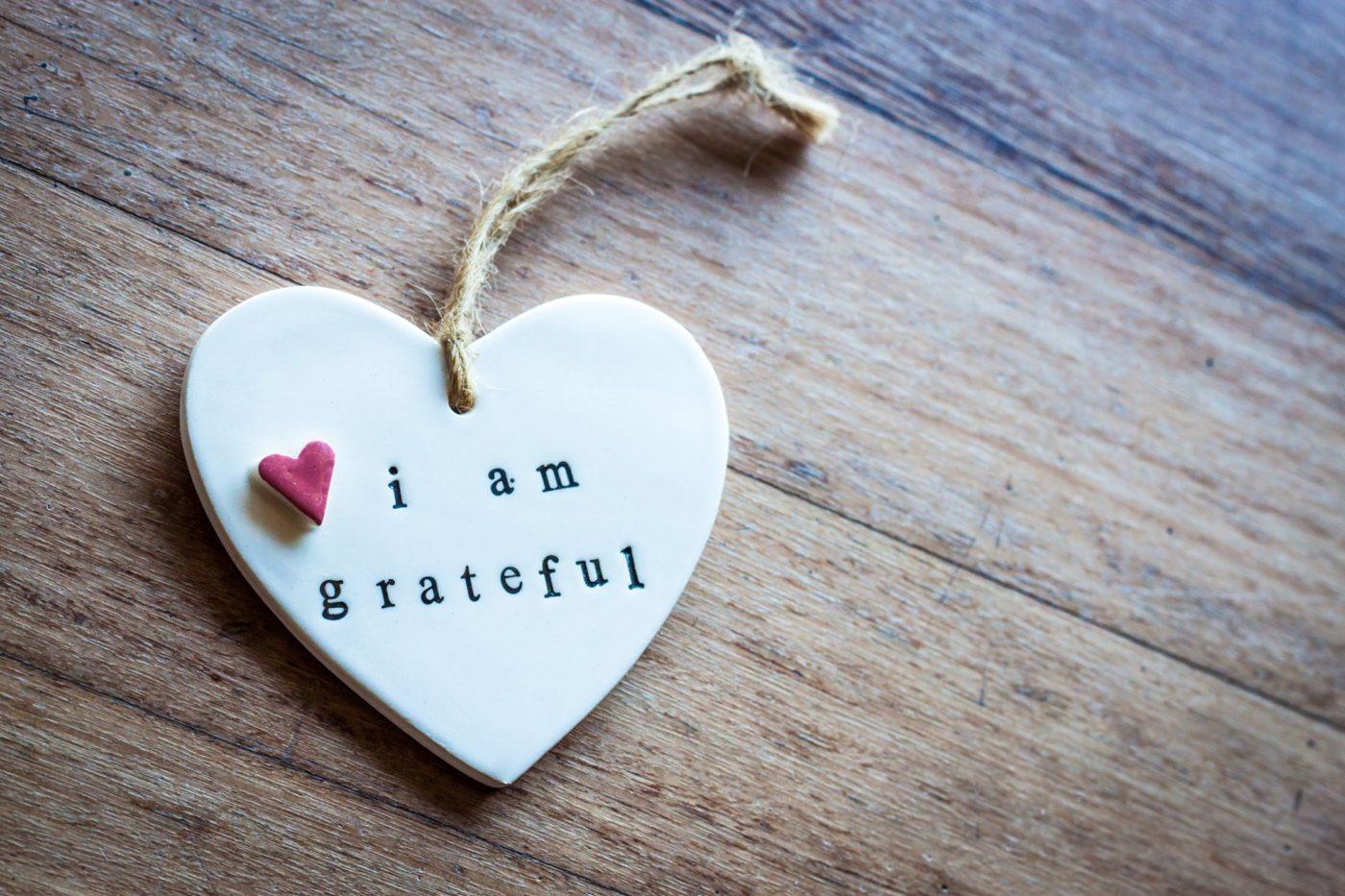 i am grateful keychain