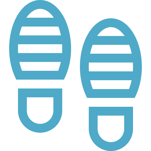 Generic Icon of Footprints